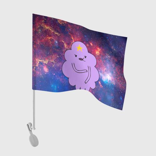 Флаг для автомобиля Пупырка в космосе