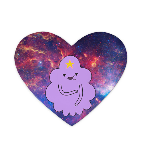 Коврик сердце Пупырка в космосе