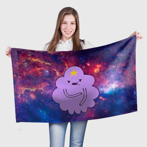 Флаг 3D Пупырка в космосе