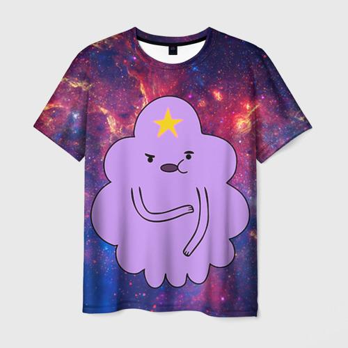 Мужская футболка 3D Пупырка в космосе