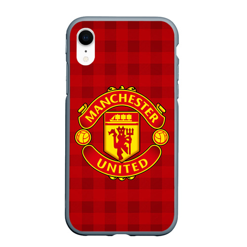 Чехол для iPhone XR матовый Manchester united Фото 01