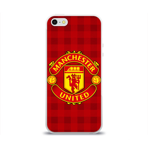 Чехол для Apple iPhone 5/5S силиконовый глянцевый Manchester united