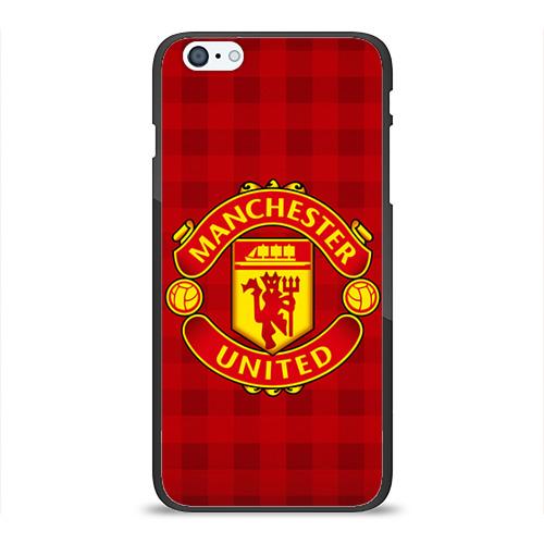 Чехол для Apple iPhone 6Plus/6SPlus силиконовый глянцевый Manchester united