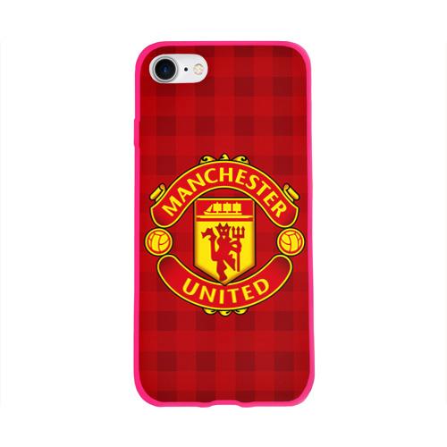 Чехол для Apple iPhone 8 силиконовый глянцевый Manchester united