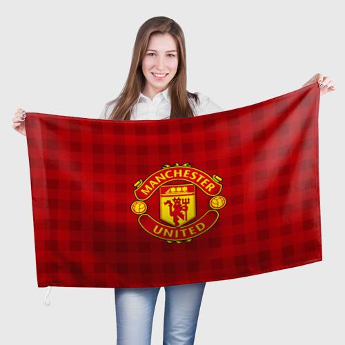 Флаг 3D Manchester united