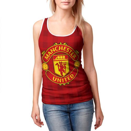 Женская майка 3D  Фото 03, Manchester united