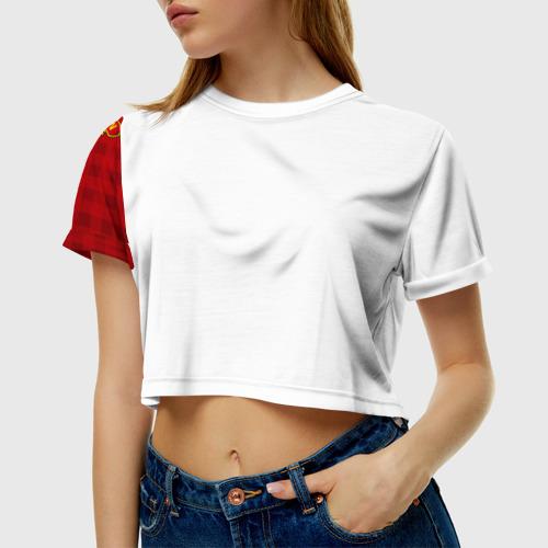 Женская футболка 3D укороченная  Фото 01, Manchester united