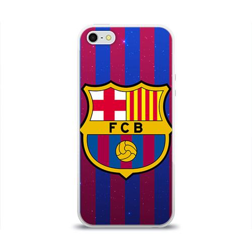 Чехол для Apple iPhone 5/5S силиконовый глянцевый Барселона
