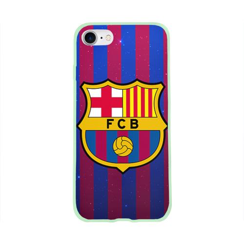 Чехол для Apple iPhone 8 силиконовый глянцевый Барселона