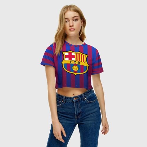 Женская футболка 3D укороченная  Фото 04, Барселона