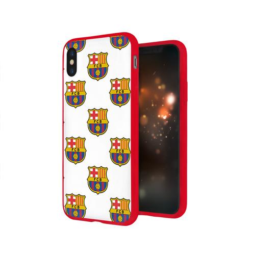 Чехол для Apple iPhone X силиконовый глянцевый Барселона Фото 01