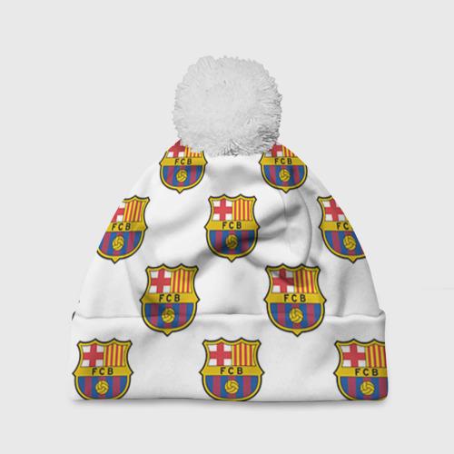 Шапка 3D c помпоном Барселона