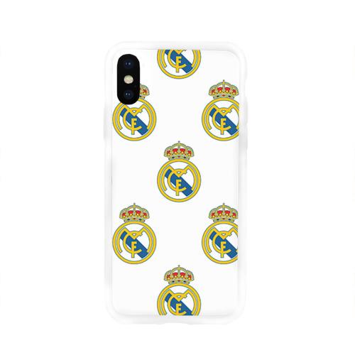 Чехол для Apple iPhone X силиконовый глянцевый  Фото 01, Real Madrid