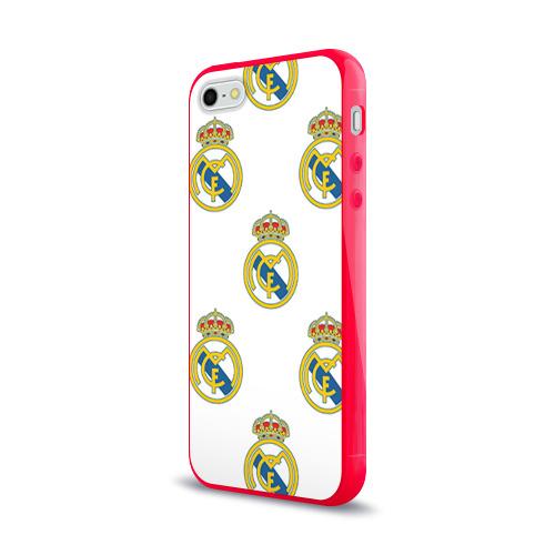 Чехол для Apple iPhone 5/5S силиконовый глянцевый  Фото 03, Real Madrid
