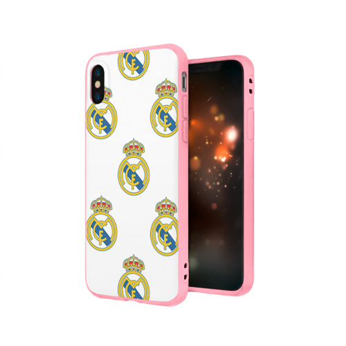 Чехол для iPhone X матовый Real Madrid Фото 01