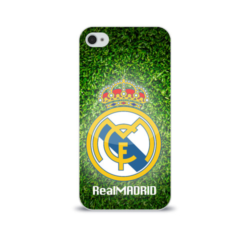 Чехол для Apple iPhone 4/4S soft-touch Real Madrid