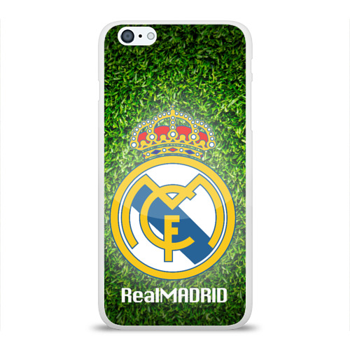 Чехол для Apple iPhone 6Plus/6SPlus силиконовый глянцевый Real Madrid