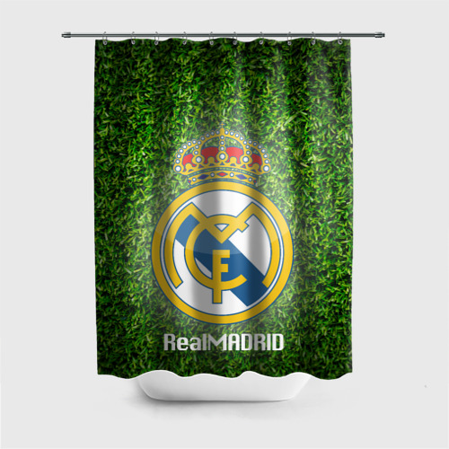 Штора 3D для ванной Real Madrid