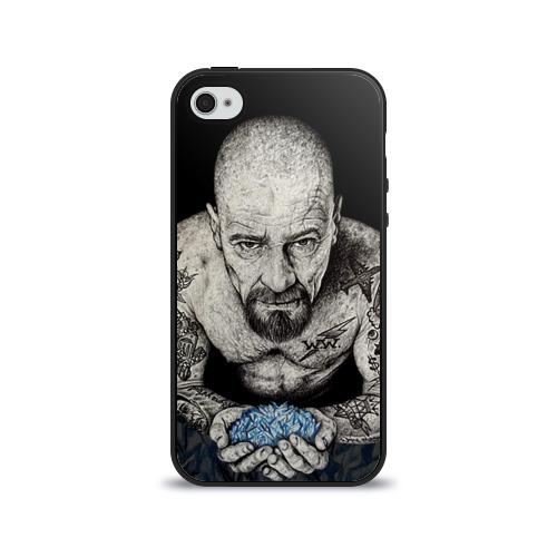 """Чехол силиконовый глянцевый для Apple iPhone 4S """"Хайзенберг"""" - 1"""