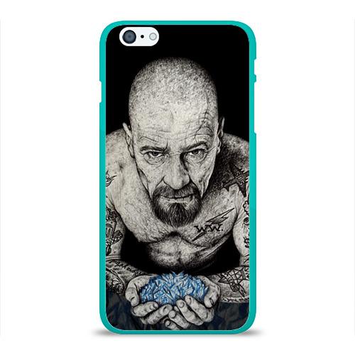 """Чехол силиконовый глянцевый для Apple iPhone 6 Plus """"Хайзенберг"""" - 1"""