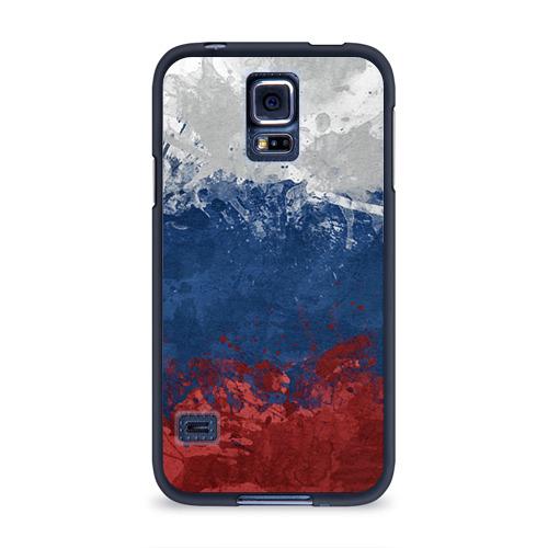 Чехол для Samsung Galaxy S5 силиконовый Флаг России