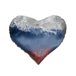 Подушка 3D сердцеФлаг России