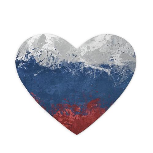 Коврик для мыши сердце Флаг России