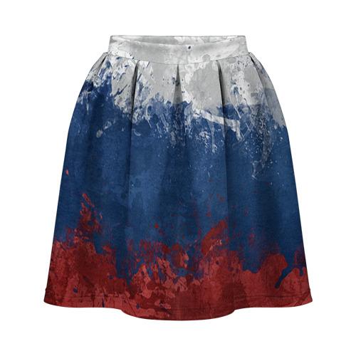 Юбка-солнце 3D Флаг России
