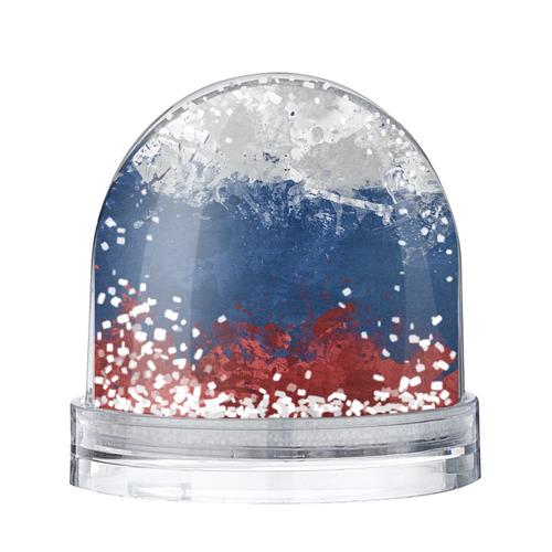 Водяной шар со снегом Флаг России