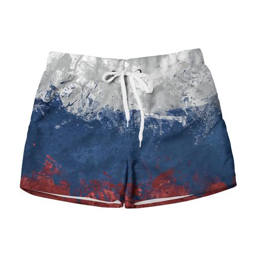 Женские шорты 3D Флаг России