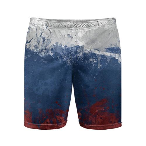 Мужские шорты 3D спортивные Флаг России