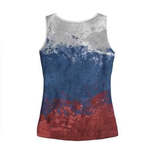 Женская майка 3D  Фото 02, Флаг России