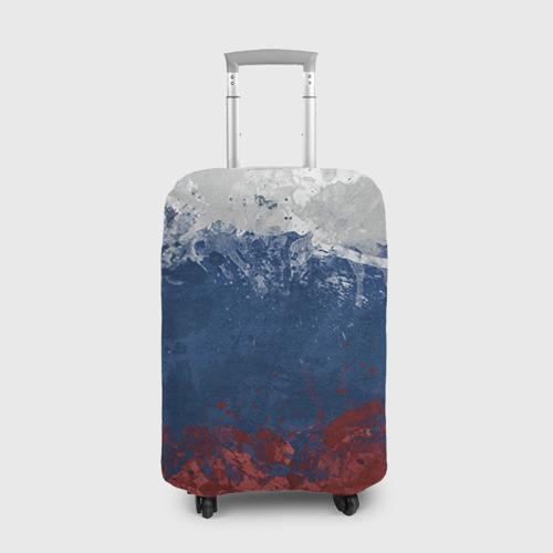Чехол для чемодана 3D Флаг России
