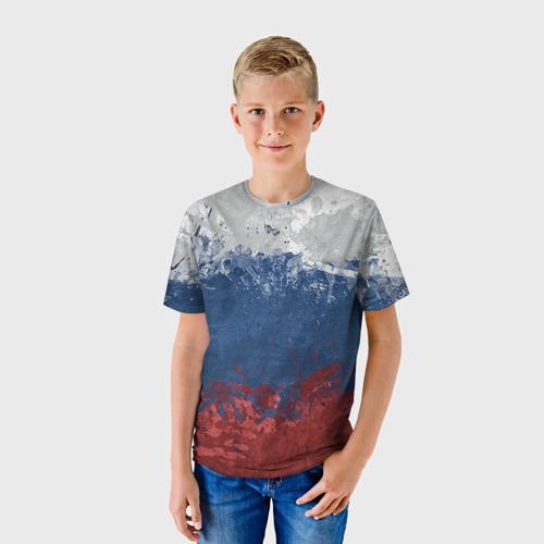 Детская футболка 3D Флаг России