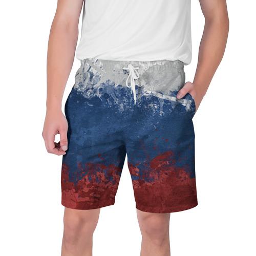 Мужские шорты 3D Флаг России