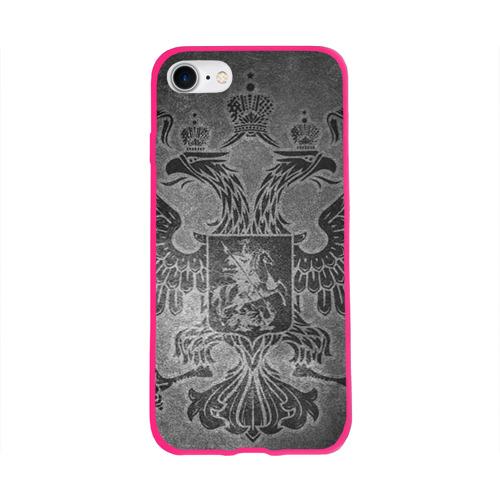 Чехол для Apple iPhone 8 силиконовый глянцевый Герб России