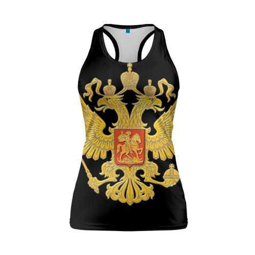 Женская майка 3D спортивная Герб России
