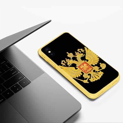 Чехол для iPhone XS Max матовый Герб России Фото 01