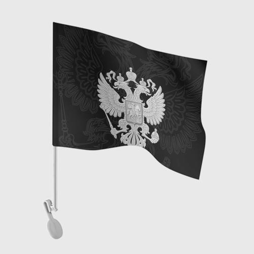 Флаг для автомобиля Герб России Фото 01