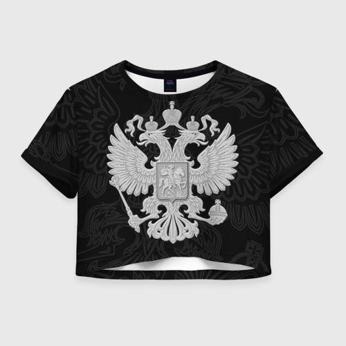 Женская футболка Cropp-top Герб России