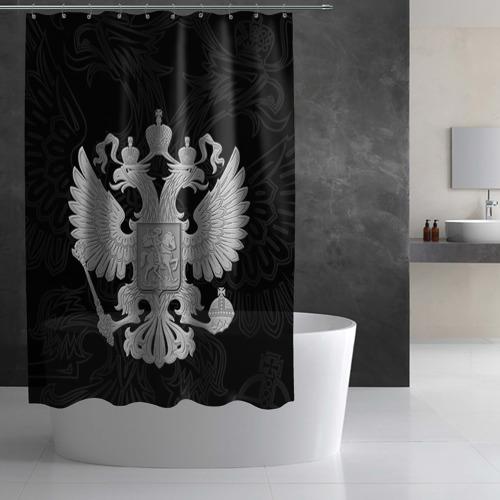 Штора 3D для ванной Герб России Фото 01
