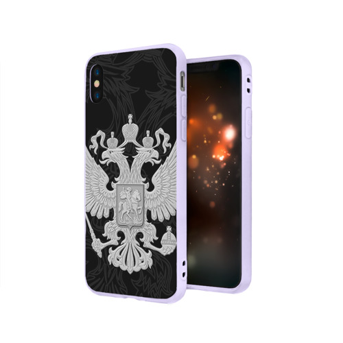 Чехол для iPhone X матовый Герб России Фото 01