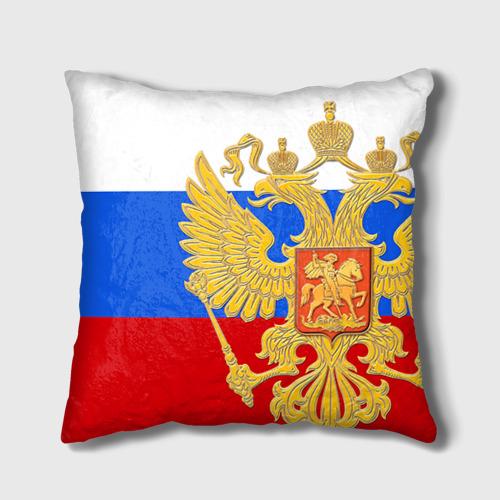 Подушка 3D Флаг и герб РФ Фото 01