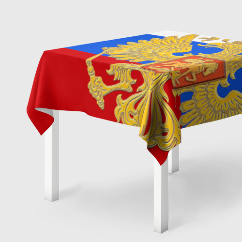 Скатерть 3D Флаг и герб РФ