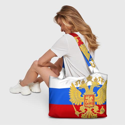 Пляжная сумка 3D Флаг и герб РФ Фото 01