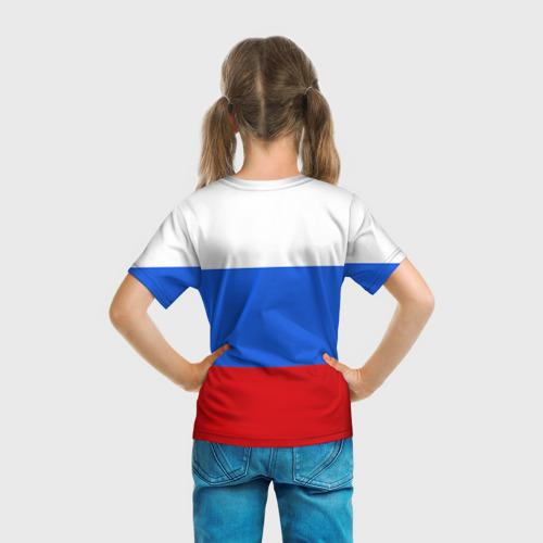 Детская футболка 3D  Фото 04, Флаг и герб РФ