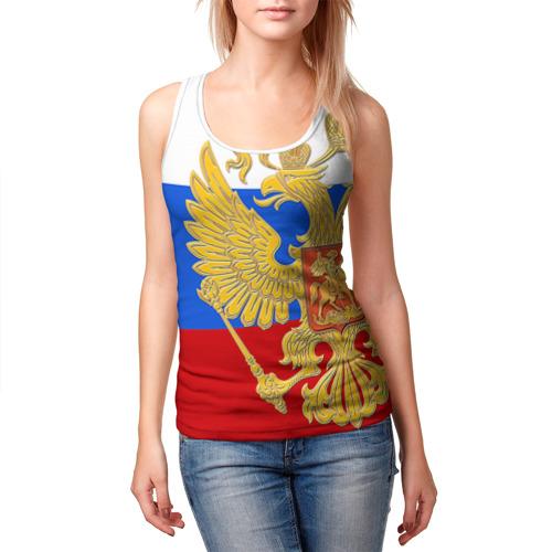 Женская майка 3D  Фото 03, Флаг и герб РФ