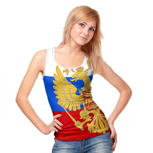 Женская майка 3D  Фото 05, Флаг и герб РФ