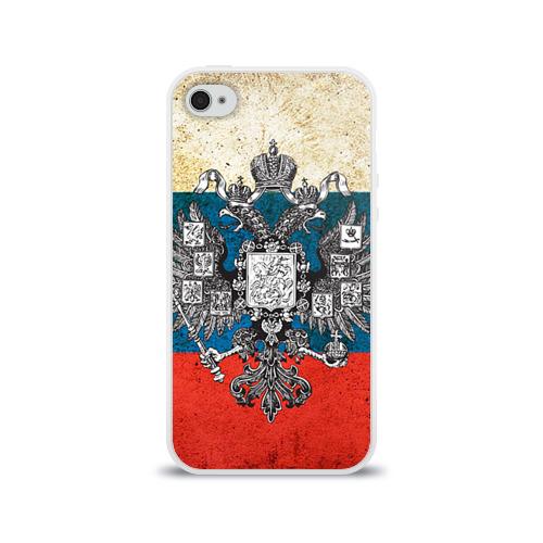 """Чехол силиконовый глянцевый для Apple iPhone 4S """"Россия"""" - 1"""