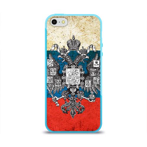 Чехол для Apple iPhone 5/5S силиконовый глянцевый Россия